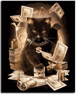 Cat Billionaire - Painting By Numbers - Jenra Store