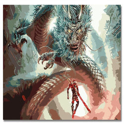 Dragon Fighting - Painting By Numbers - Jenra Store