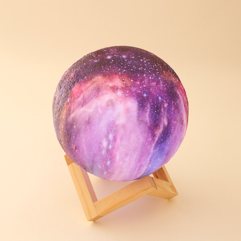 2019 Galaxy Print Moon Lamp