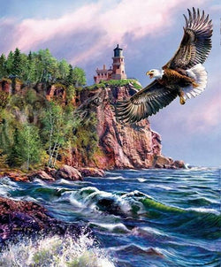 Eagle Landscape - Painting By Numbers - Jenra Store