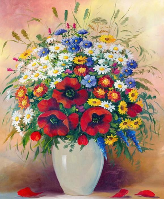 Prisma Flowers - Painting By Numbers - Jenra Store