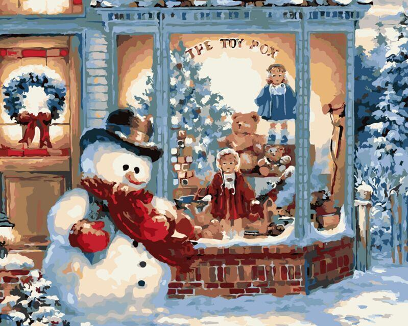 Cold Snowman - Painting By Numbers - Jenra Store