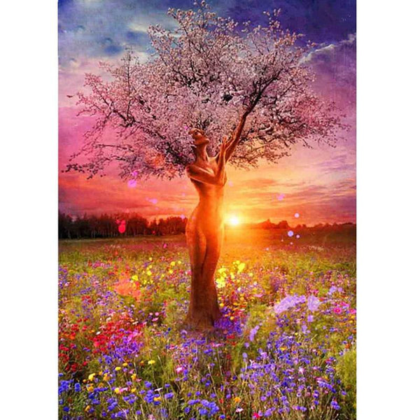 Goddess Angel Tree - 5D™ Diamond Painting Kit - Jenra Store