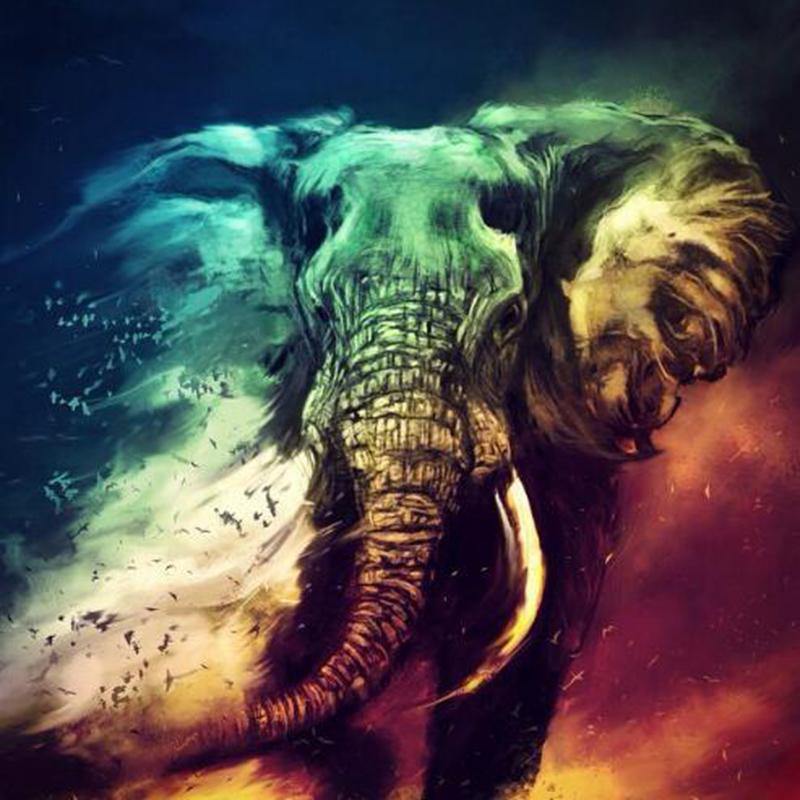 Artistic Elephant - 5D™ Diamond Painting Kit - Jenra Store