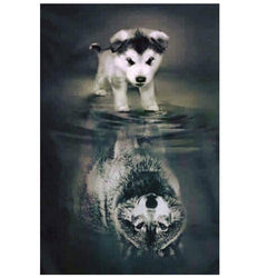 Dog/Wolf - 5D™ Diamond Painting Kit - Jenra Store