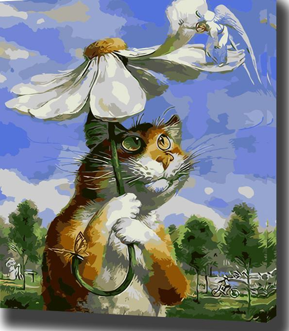 Summer Cat- Painting By Numbers - Jenra Store