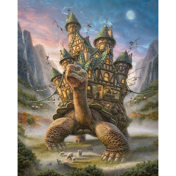 Turtle Castle - 5D™ Diamond Painting Kit - Jenra Store