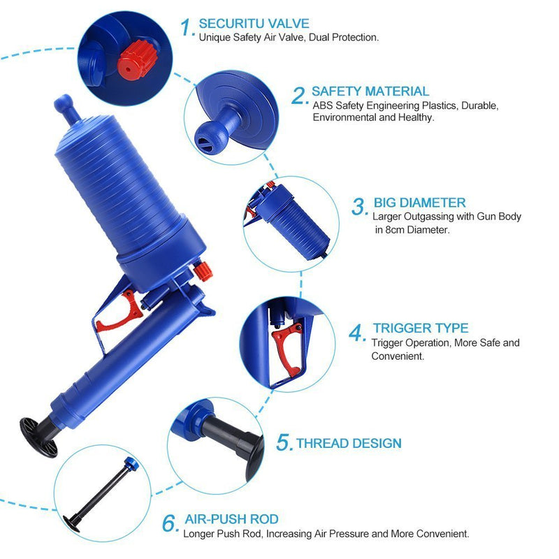 BOLT™ DRAIN BLASTER CLEANING GUN - BLAST AWAY IN SECONDS