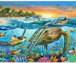 Ocean Turtle - 5D™ Diamond Painting Kit - Jenra Store
