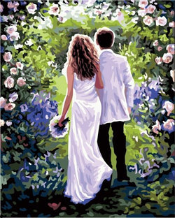 Just Married - Painting By Numbers - Jenra Store