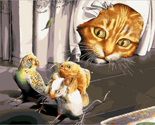 Load image into Gallery viewer, Naughty Cat - Painting By Numbers - Jenra Store
