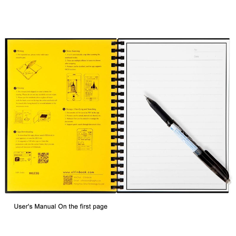 Elfinbook Reusable Notebook 2.0 + 1x Pilot Pen - Jenra Store