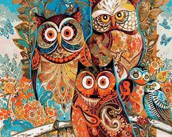 """Be Together"" Owls - Painting By Numbers - Jenra Store"