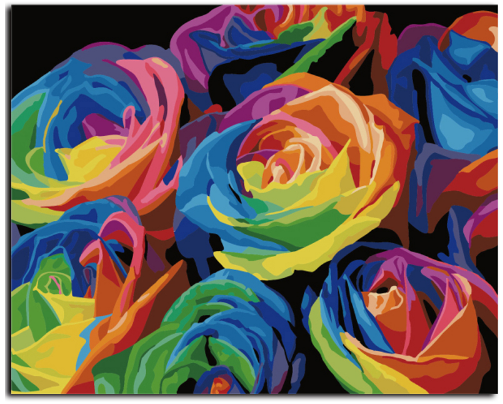 Rainbow™ Rose- Painting By Numbers - Jenra Store