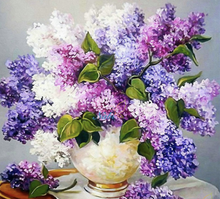 Load image into Gallery viewer, Lavender Vase- 5D™ Diamond Painting Kit - Jenra Store
