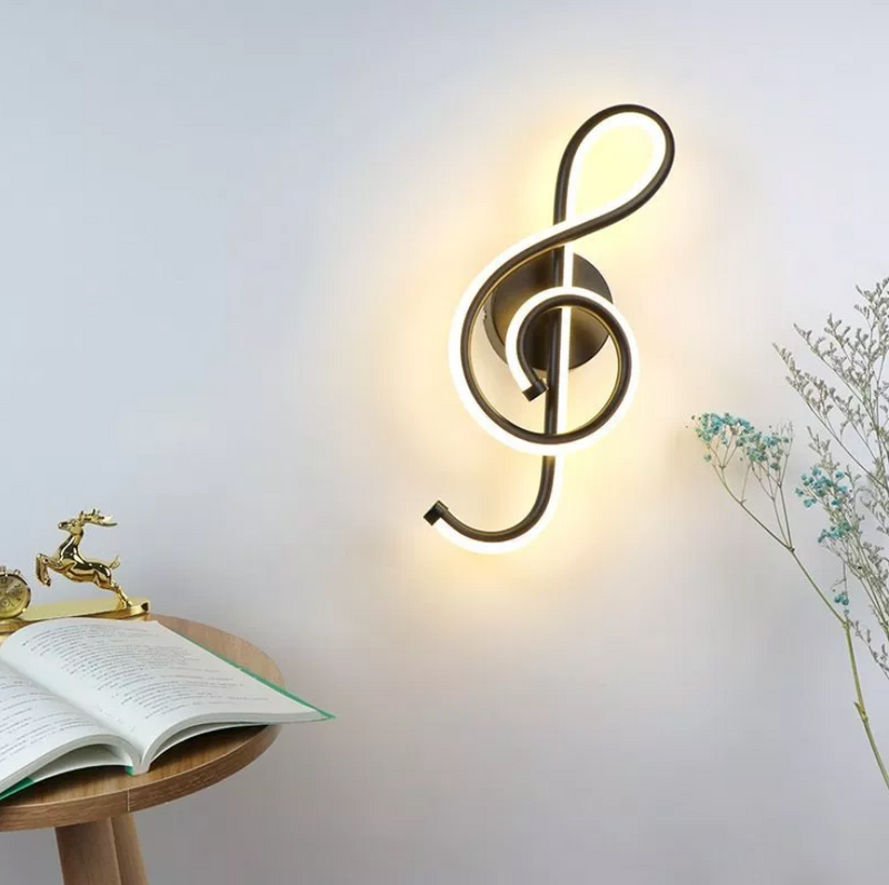 2019 LED Treble Clef Wall Lamp