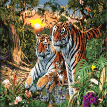 Load image into Gallery viewer, Tiger Family- Painting By Numbers - Jenra Store
