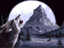 Load image into Gallery viewer, Wolf Howling At Moon- Painting By Numbers - Jenra Store