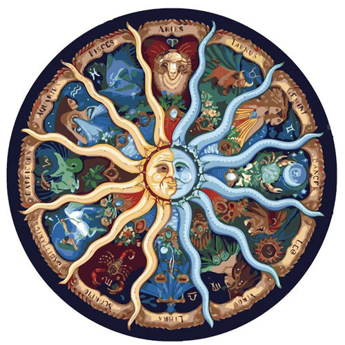 12 Astrology Zodiac Signs - Painting By Numbers - Jenra Store