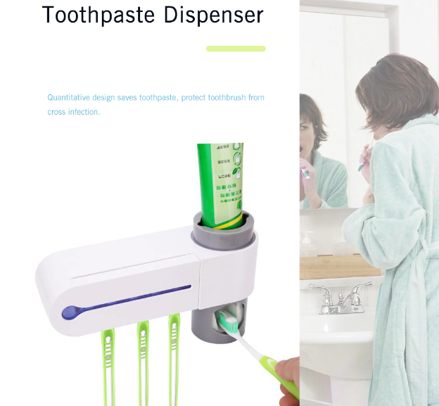 2019 TeethCarer™ - 2 in 1 Toothbrush Sterilizer & Toothpaste Dispenser - Must-Have Tool for Your Bathroom
