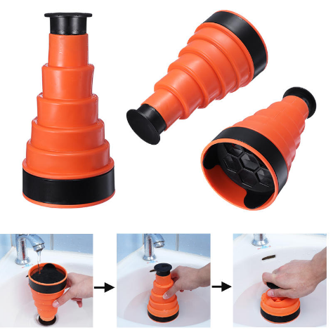 DrainClear™ - Mini High Pressure Sink Plunger -  Cleaning out any clogged drain in second