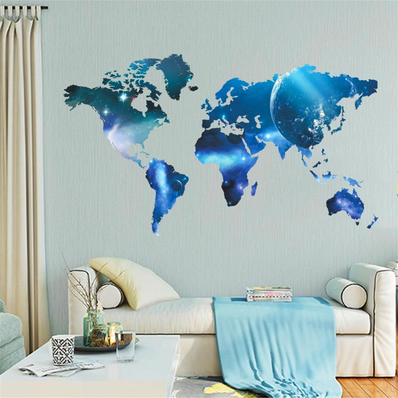 Space™ - 3D World Map Sticker - Jenra Store