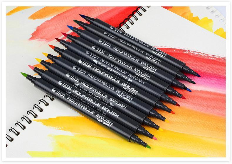 STA Aquarelle Coloring Brush Pens - Jenra Store
