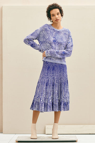 Baum Und Pferdgarten Carmalia Blue Tiger Shell Knit at Mercantile London