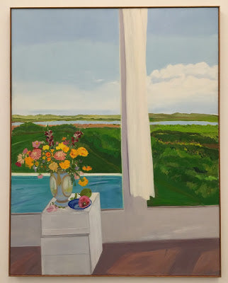 View Over the Pool by Jane Freilicher 1980