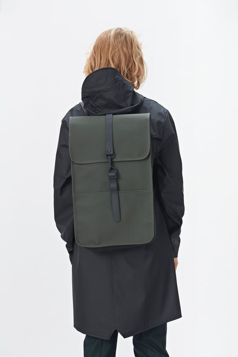 Rains Green Backpack - The Mercantile London