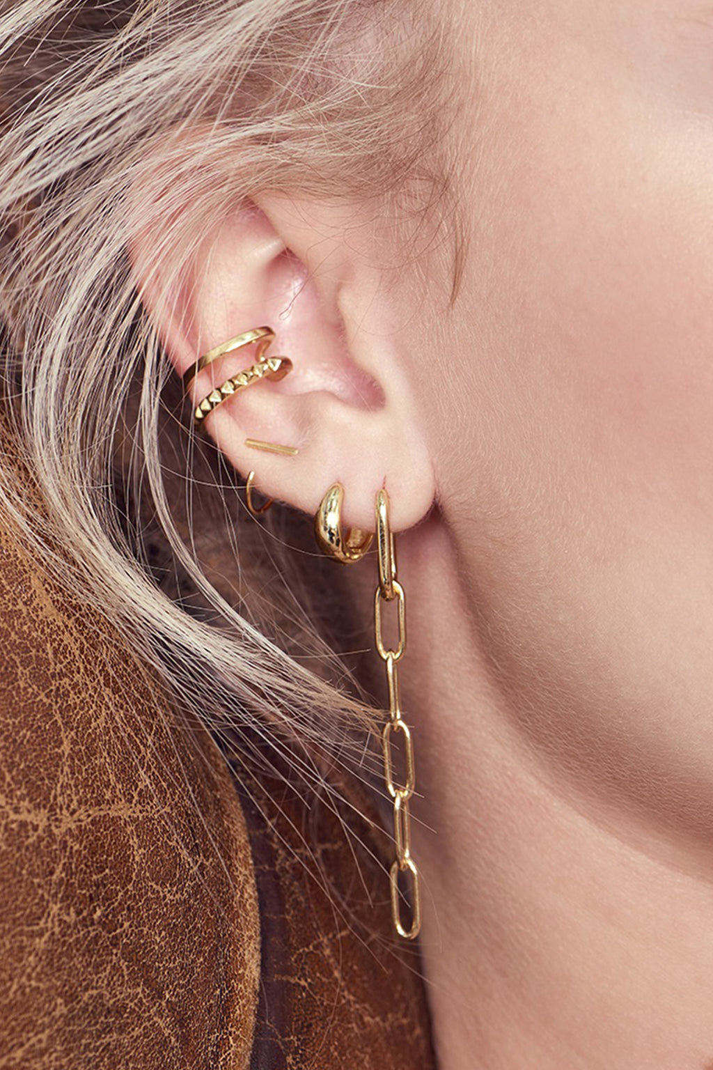 Ania Haie Gold Huggie Hoop Earrings - The Mercantile London