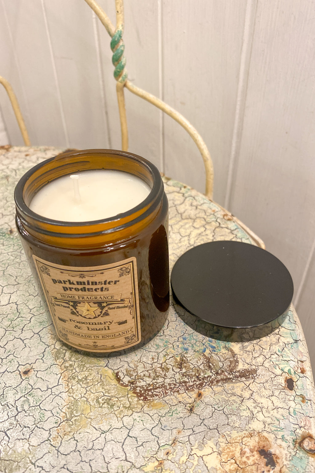 Parkminster Rosemary & Basil Apothecary Jar Candle - The Mercantile London