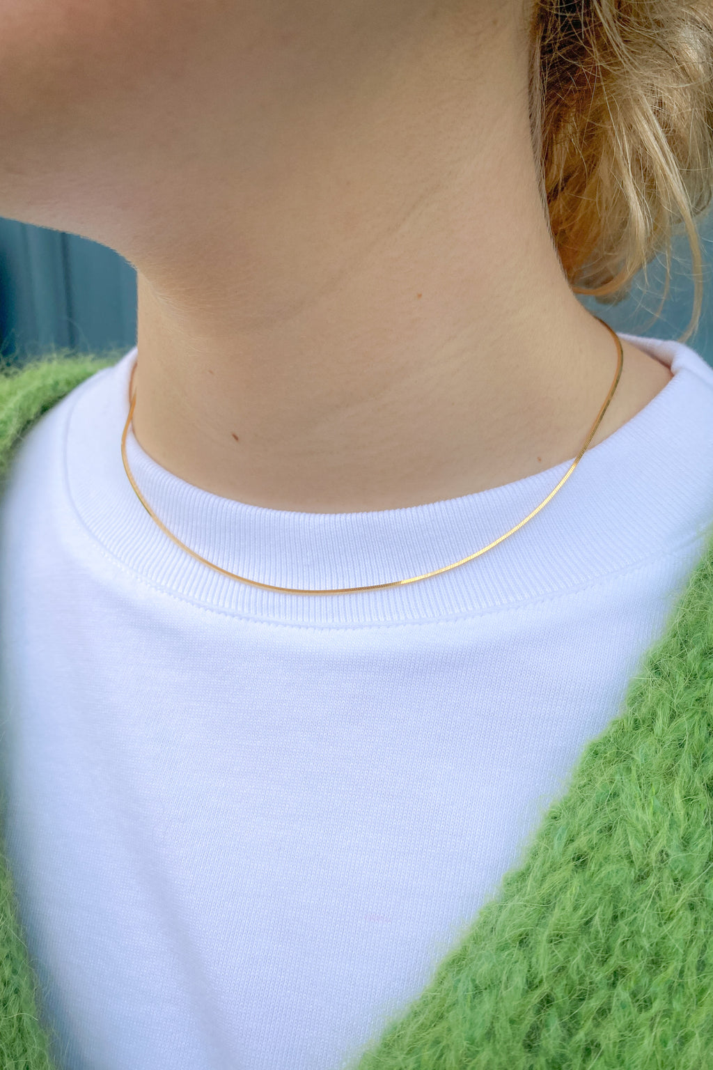 Shyla Thin Snake Chain Necklace - The Mercantile London