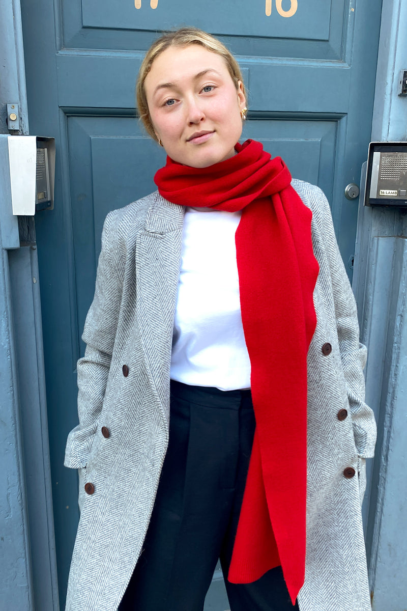 Colorful Standard Scarlet Red Scarf - The Mercantile London