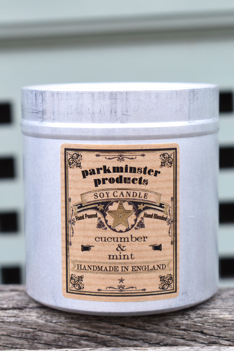 Parkminster Cucumber & Mint Tin Candle - The Mercantile London