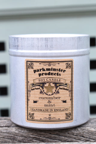 Parkminster Cucumber & Mint Tin Candle