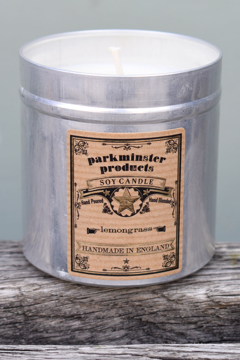 Parkminster Lemongrass Tin Candle - The Mercantile London