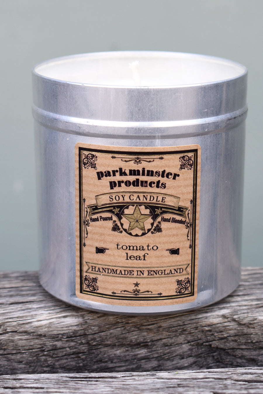 Parkminster Tomato Leaf Tin Candle - The Mercantile London