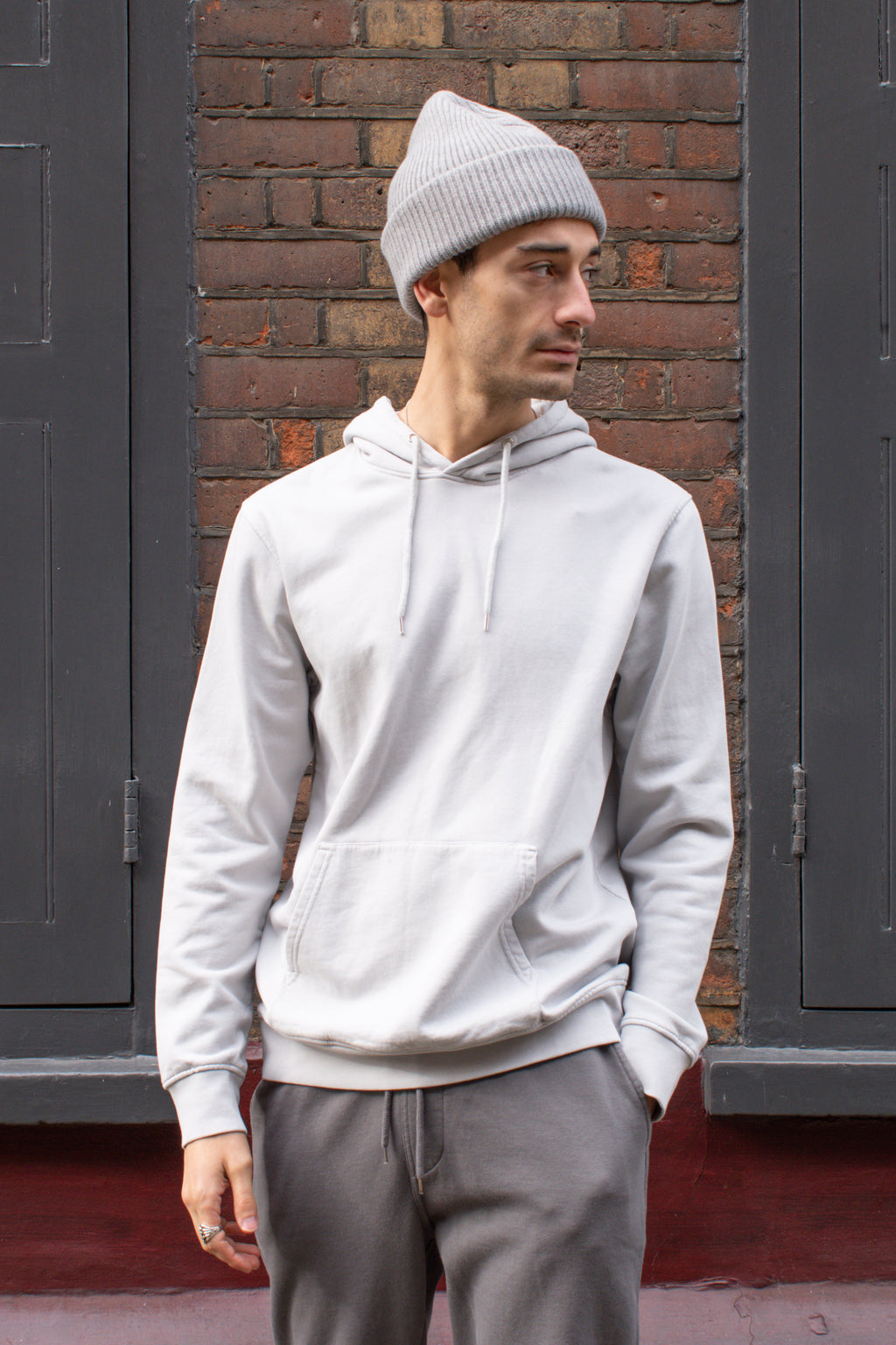 Colorful Standard Unisex Limestone Grey Hoodie - The Mercantile London