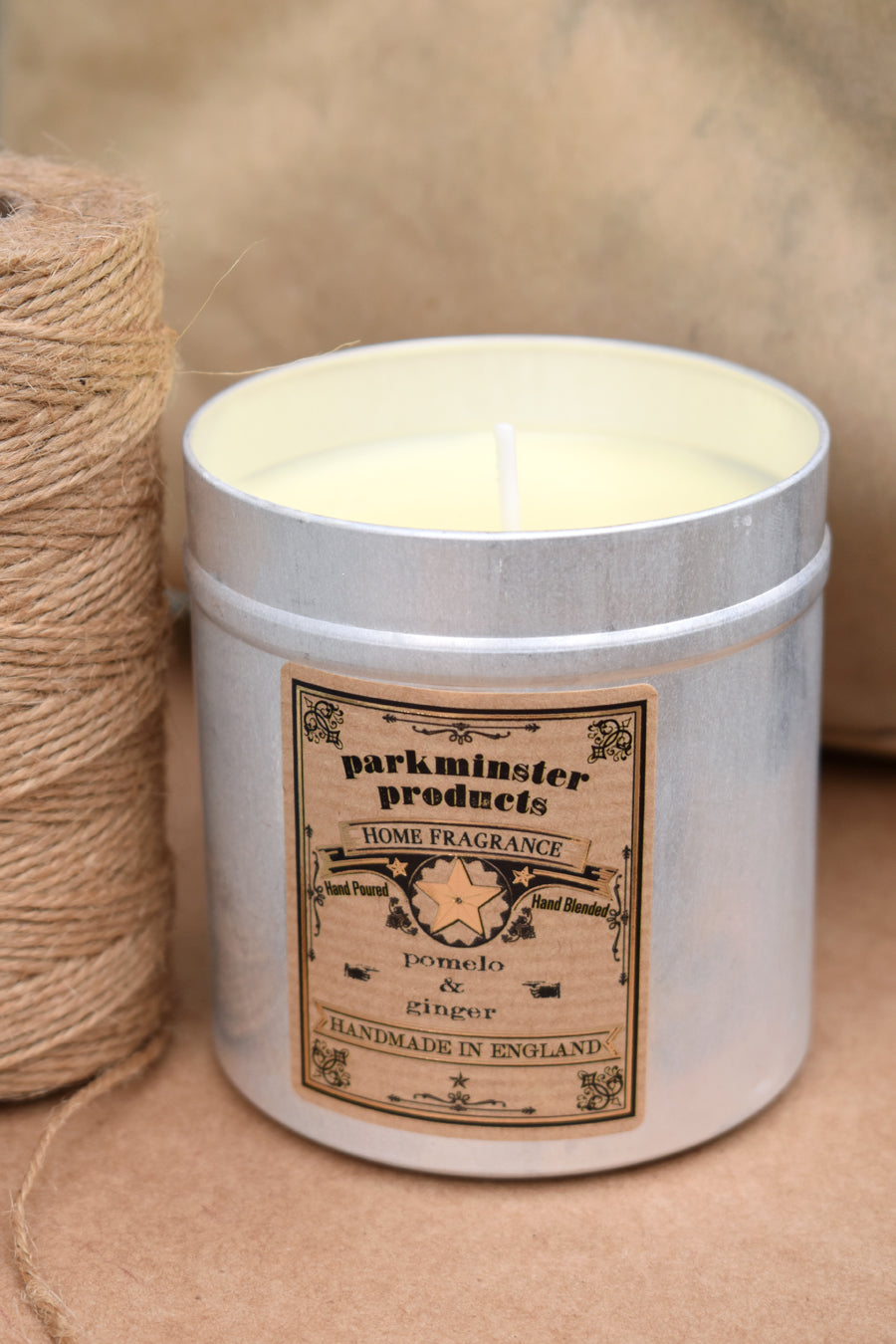 Parkminster Pomelo & Ginger Tin Candle - The Mercantile London
