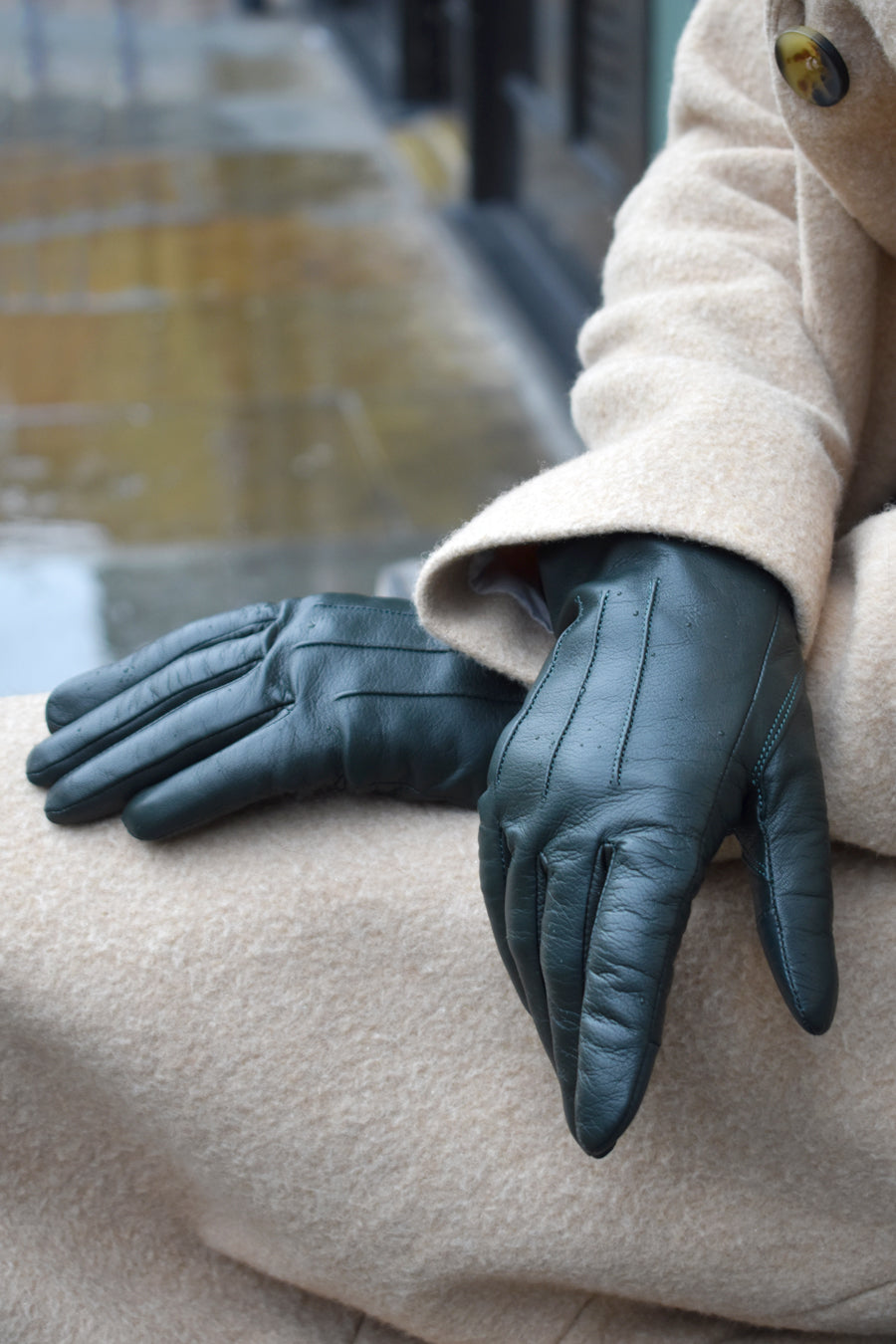Markberg Carianna Dark Green Gloves - The Mercantile London