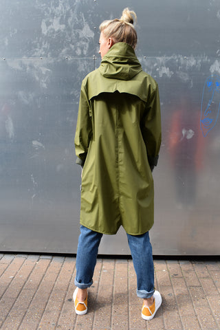 Rains Sage Long Jacket