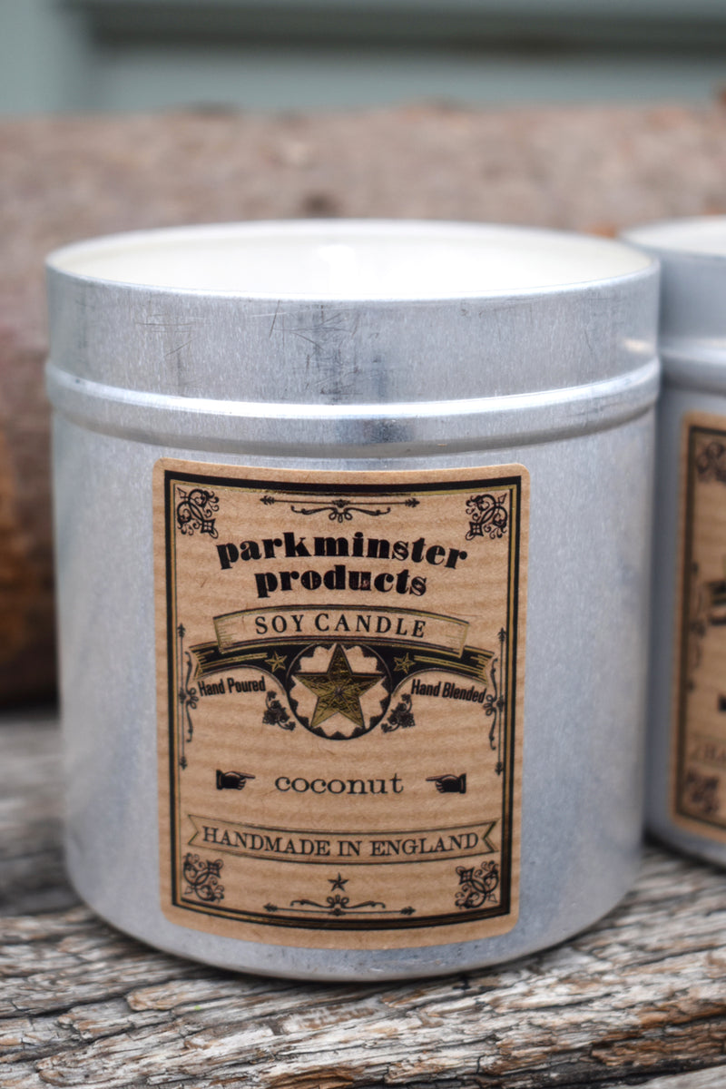 Parkminster Coconut Tin Candle - The Mercantile London