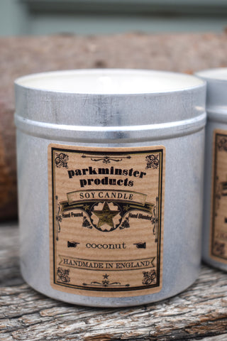 Parkminster Coconut Tin Candle