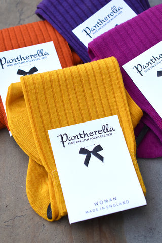 Pantherella Rose Bright Gold Socks