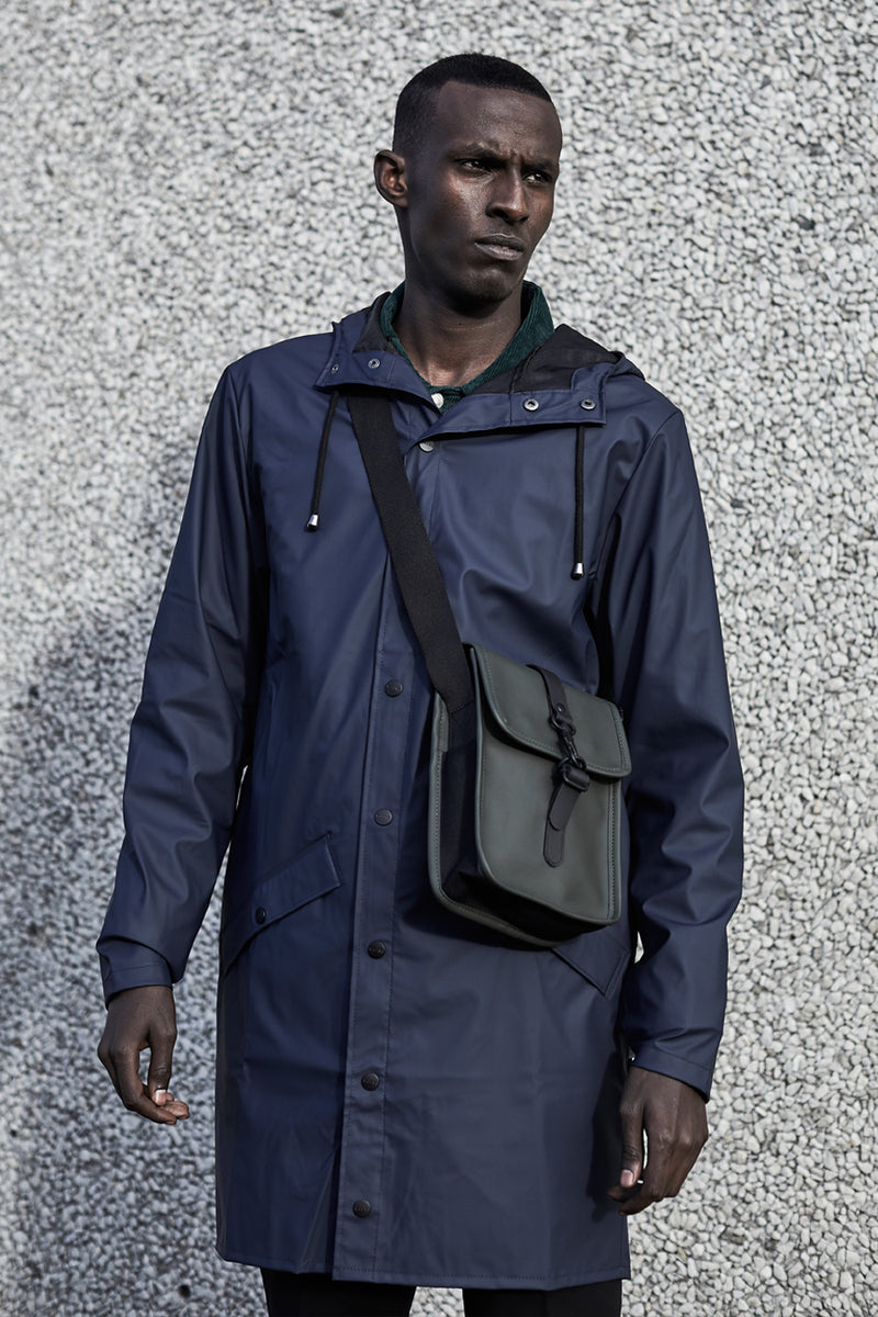 Rains Long Blue Jacket - The Mercantile London