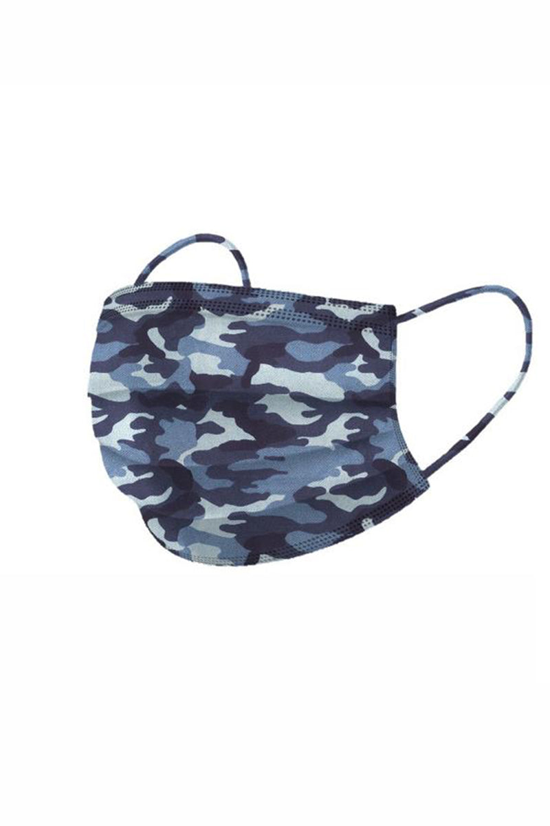 Ombré Basic Blue Camo Face Mask - The Mercantile London