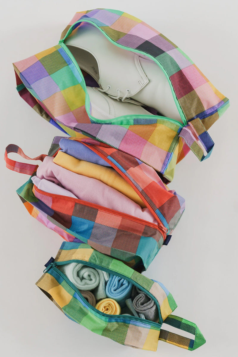 Baggu Madras Mix 3D Zip Set - The Mercantile London