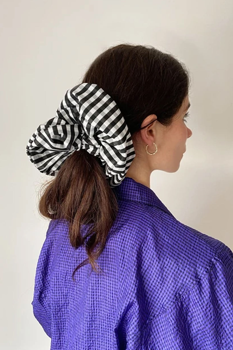 Bronze Age XL Black Gingham Scrunchie - The Mercantile London