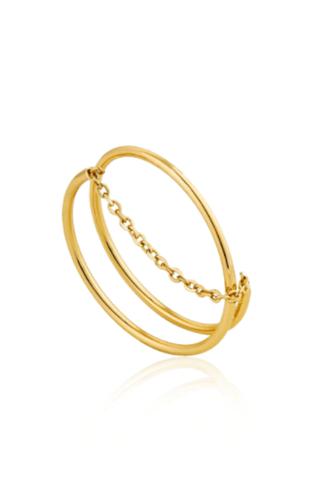 Ania Haie Twist Chain Ring - The Mercantile London